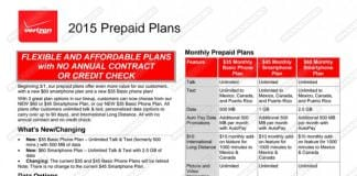 Verizon Wireless Prepaid Plan Changes