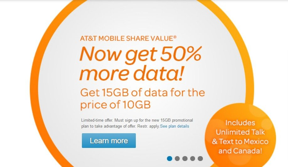 ATT Increases Mobile Share Data