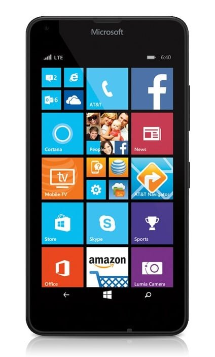 Microsoft Lumia 640 GoPhone Black