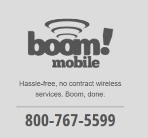 Boom! Mobile Black and White Logo