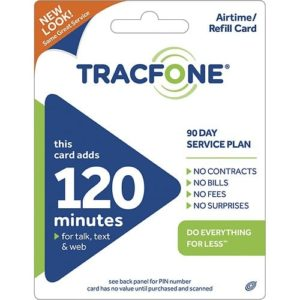 Tracfone 120 Minutes Airtime Card Save 5 percent off