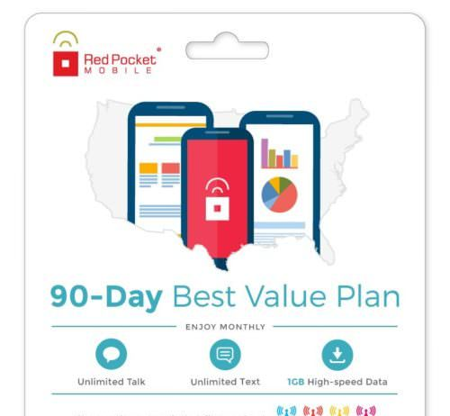 Red Pocket eBay Plan 90 Day Best Value