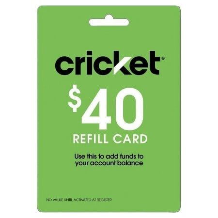 Cricket Wireless Refill Card