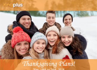 RingPlus Announces Thanksgiving 2016 Plans