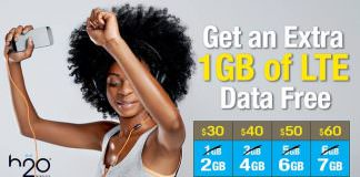 H2O Wireless Promotion Get 1 GB More Data