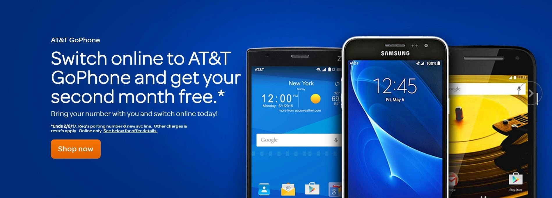 ATT GoPhone Promotion Free Month Of Service