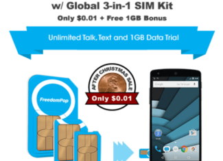 FreedomPop Global SIM Plan
