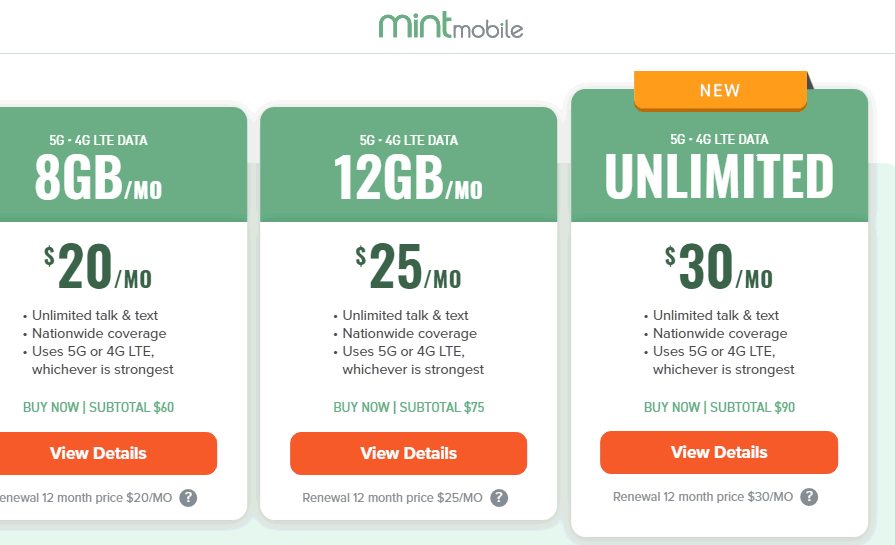 Mint Mobile Calls Its 35GB Plan Unlimited