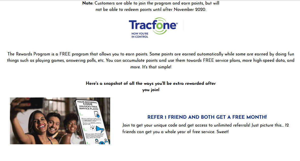 Tracfone Rewards And Customer Referral Programs