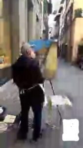 Screenshot taken during video chat in Florence Italy using FreedomPop's global SIM Plan
