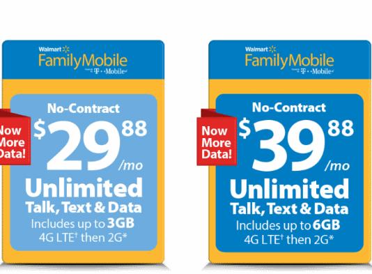 Walmart Family Mobile Updates Phone Plans For June 2017