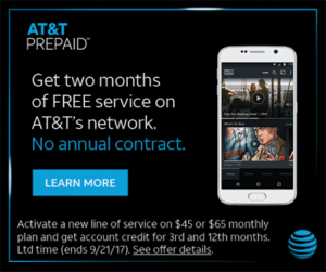AT&T Prepaid 2 Months Free Promotion