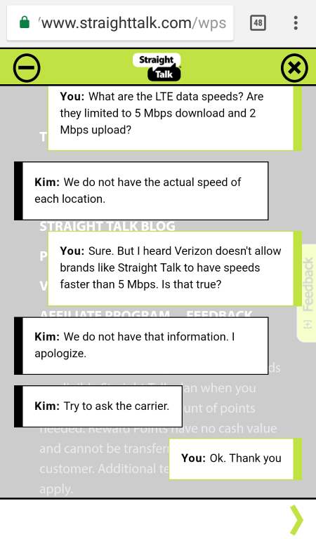 Straight Talk Wireless Part 2 Conversation About LTE Speeds Being Lifted