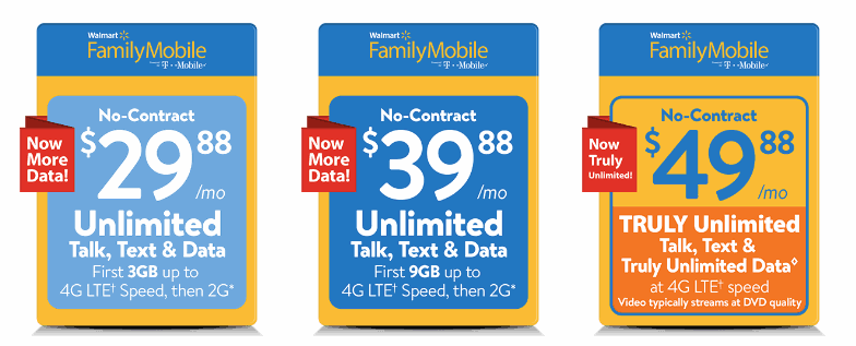 Walmart Family Mobile Adds Unlimited LTE Data Plan