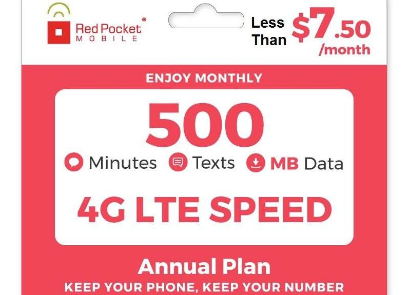 Red Pocket Annual Plan eBay Sale