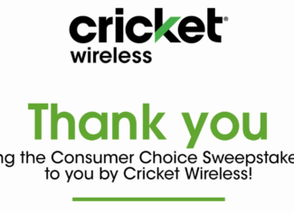 Cricket Wireless November 2017 Giveaway Sweepstakes