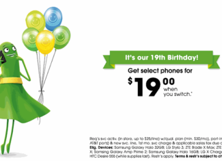 Cricket Wireless Celebrates 19th Birthday With Special Savings