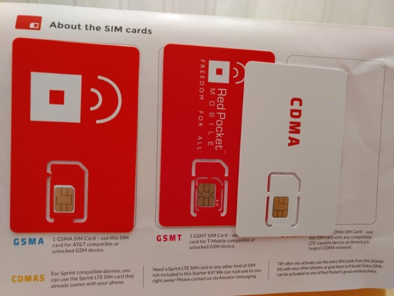 Red Pocket Mobile's SIM Card Kit From Amazon