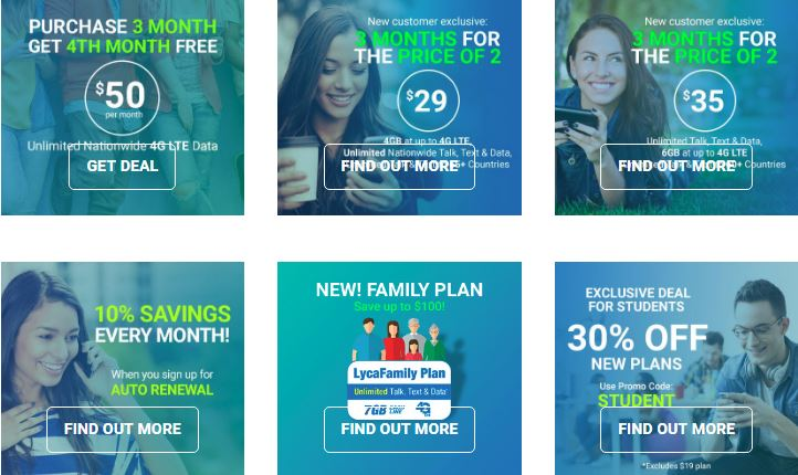 Special Offers From Lycamobile