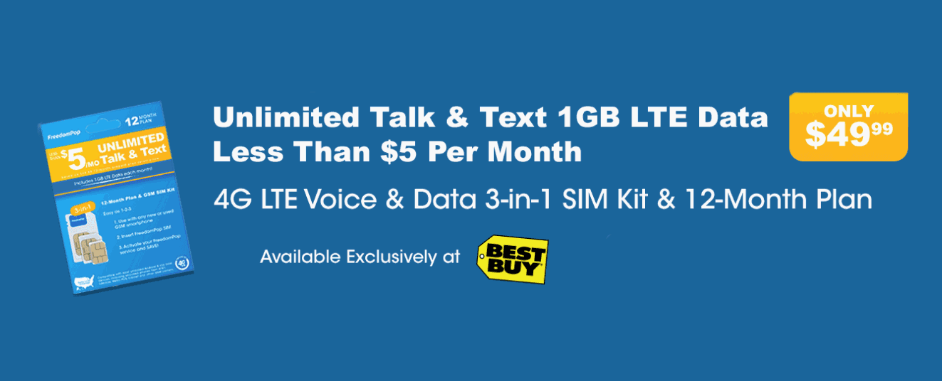 FreedomPop Best Buy Exclusive Plan