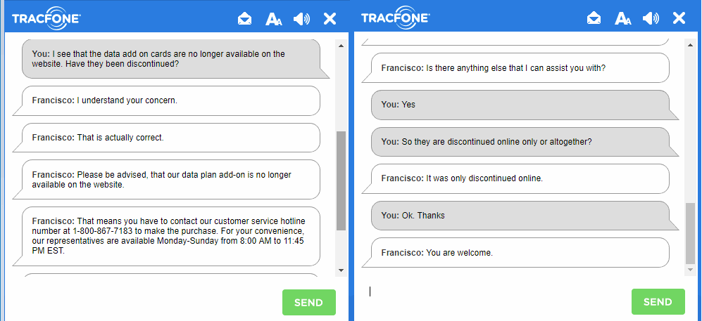 TracFone Discontinues Online Sale Of Data Only Add-On's