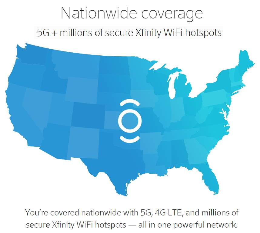 Xfinity Mobile Coverage Includes Hotspot Access