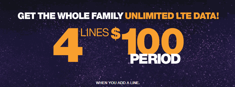 Four Lines For One Hundred Dollars On MetroPCS