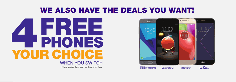 MetroPCS Four Free Phones Switcher Deal