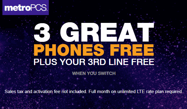 Get Your 3rd Unlimited Line Free When You Switch To MetroPCS