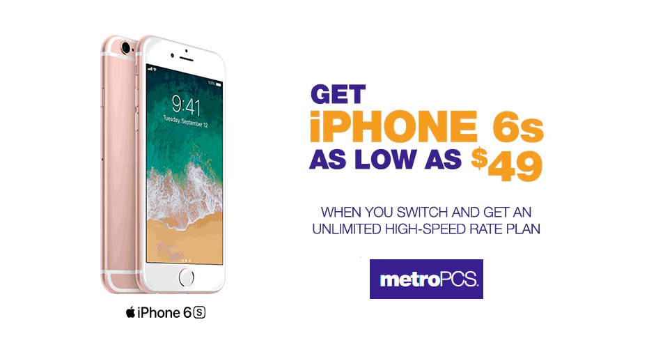metro pcs iphone deals transfer to metropcs and get an iphone 6s for just 49 99 15677