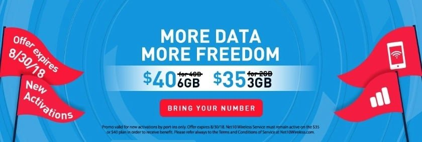 NET10 Wireless Offering Fifty Percent More Data For Life To New Customers