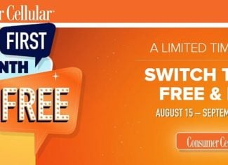 Summer 2018 Deal - Consumer Cellular Giving Away One Month Of Free Service