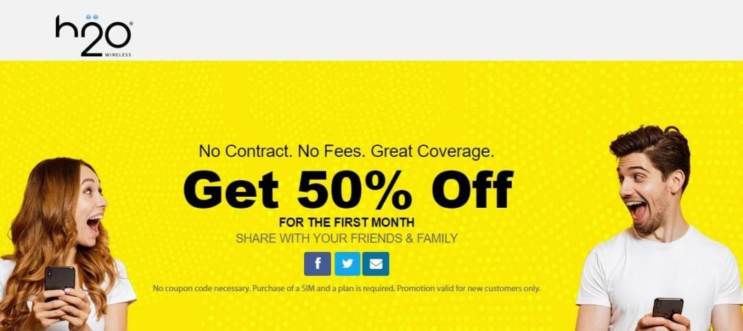 H2O Wireless Offering Half Off Plus Bonus Data On Select Plans