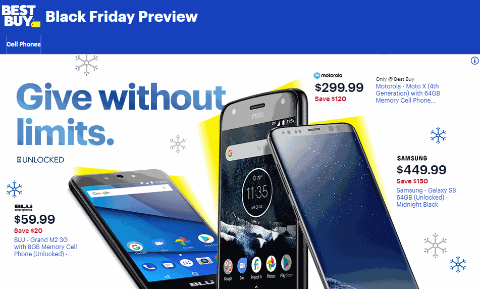 d916af0ca8d531 Best Buy And Walmart Black Friday 2018 Cell Phone Deals Revealed ...