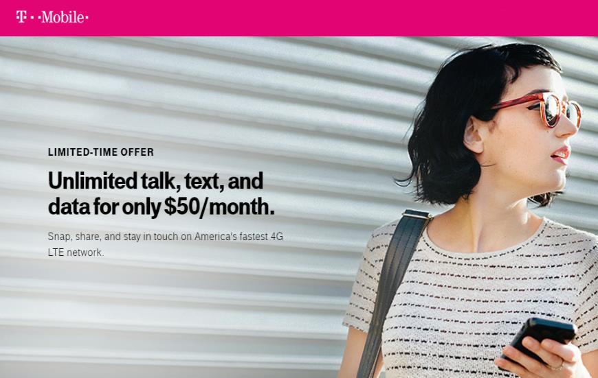 Limited Time Offer From T-Mobile Prepaid Is An Unlimited LTE Data Plan For $50/Month