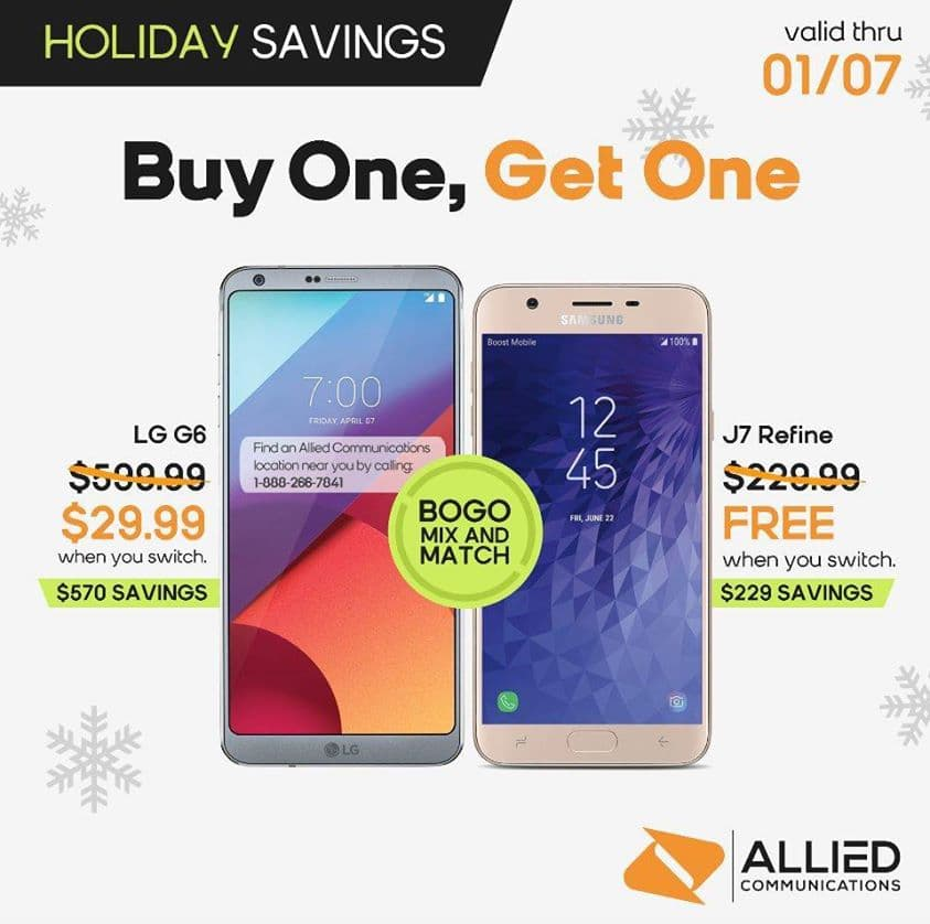 Boost Mobile Updates Promos, LG G6 Now $29.99 BOGO Offer