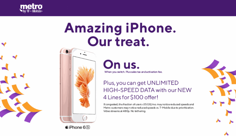 Metro By T-Mobile Offering Free Phones To Switchers Including The iPhone 6s