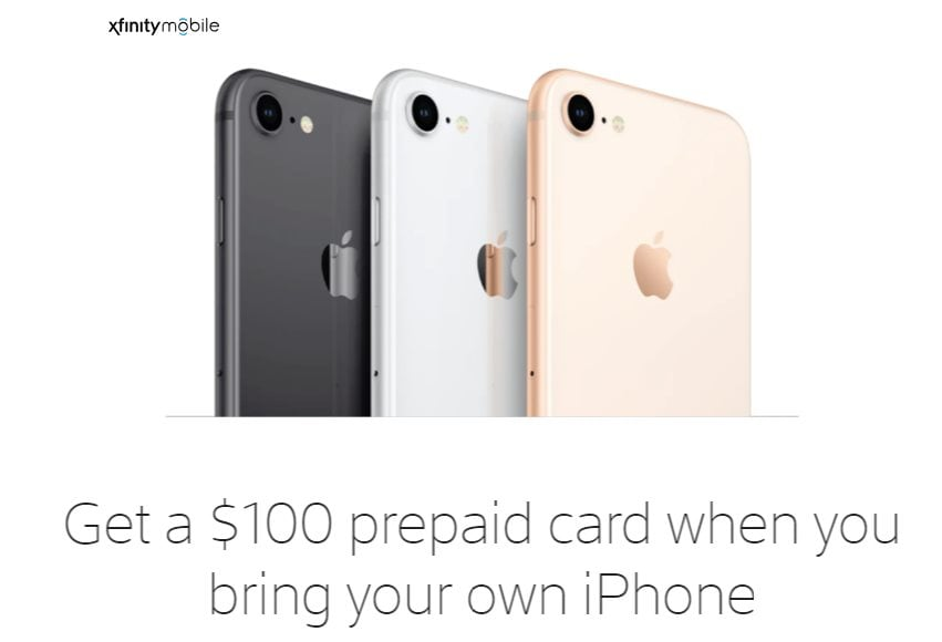 Xfinity Mobile Offering BYOD Customers A $100 Prepaid Refill