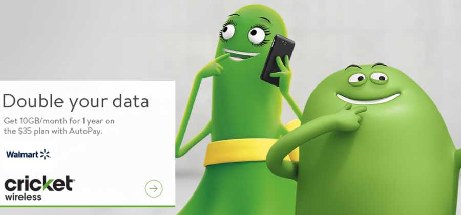Cricket Wireless Offering Double Data At Walmart, Get 10GB