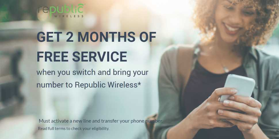 Republic Wireless Feb - March 2019 Offer, 2 Free Months To Switchers