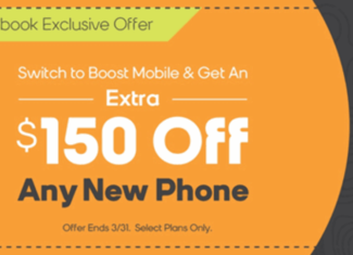 Some Boost Mobile Stores Offering $150 Off Any New Phone Purchase