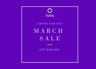 Teltik March 2019 Offer Is 3 Months Of Unlimited LTE Data $30/Month