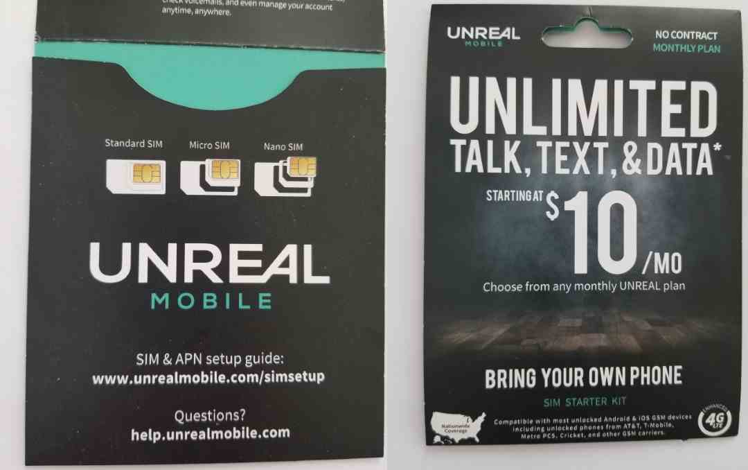 I Purchased My Unreal Mobile 4G LTE GSM SIM Card Locally From Target