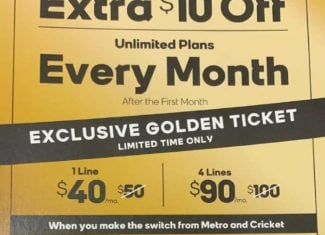 Boost Mobile Golden Ticket Offer Get Ten Dollars Off Unlimited Plan For Life
