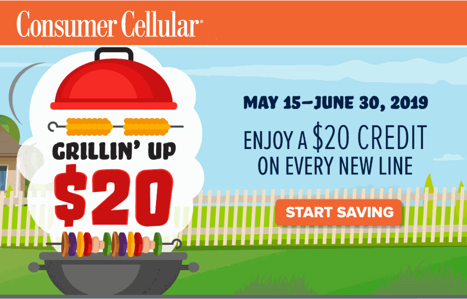 Consumer Cellular Is Offering $20 Account Credits To New Lines Of Service