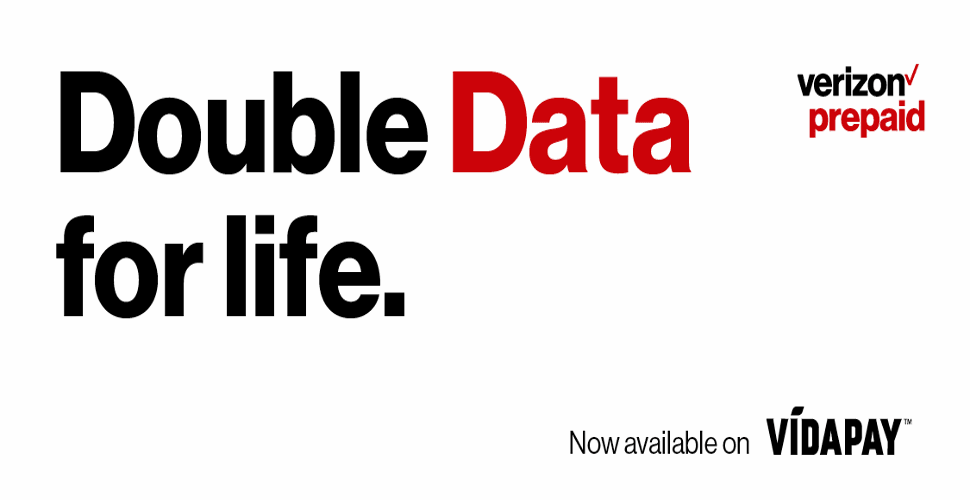 Verizon Prepaid Double Data For Life Offer Returns To VIDAPAY Dealers