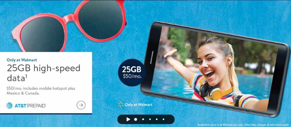 ATT Prepaid Now Offering 25GB Data On $50 Plan Exclusively At Walmart