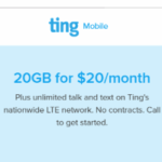 Get 20GB For $20 With Ting Mobile