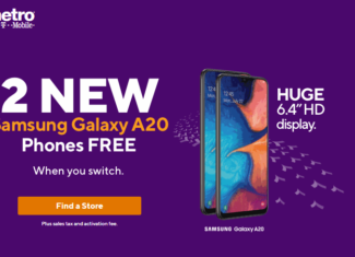 Metro By T-Mobile Offering Samsung Galaxy A20 Free To Switchers
