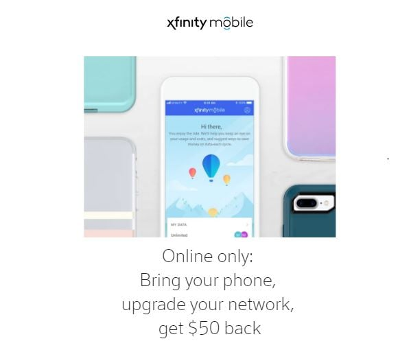 Bring Your Own Phone To Xfinity Mobile Get A Fifty Dollar Visa Prepaid Card